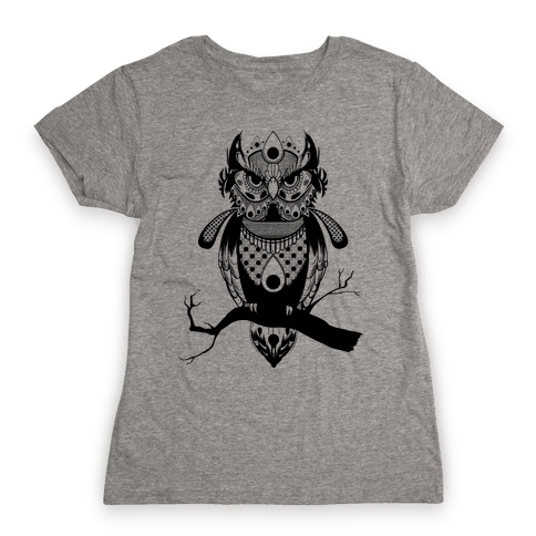 Patterned Owl Womens T-Shirt