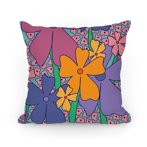Happy Flower Pattern Pillow