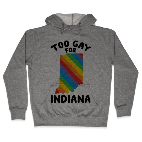 Too Gay For Indiana Hooded Sweatshirt