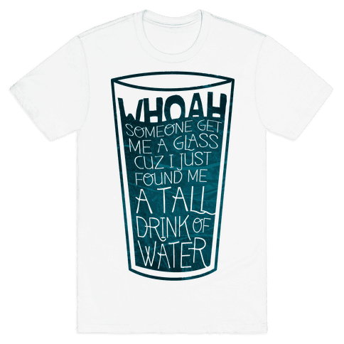 Tall Drink (color) Mens T-Shirt