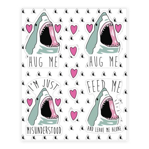 Needy Shark Sticker/Decal Sheet