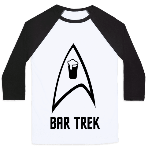 Bar Trek Baseball Tee