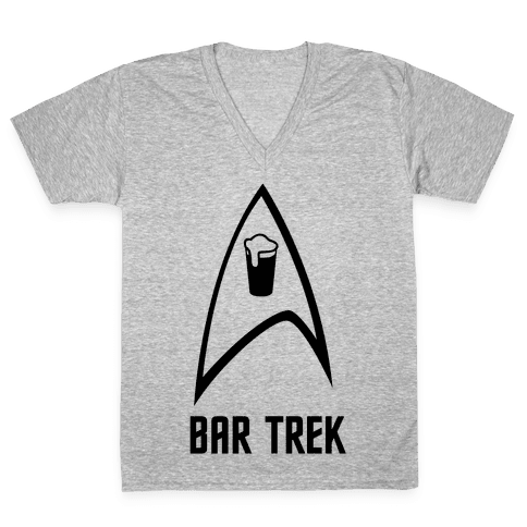 Bar Trek V-Neck Tee Shirt