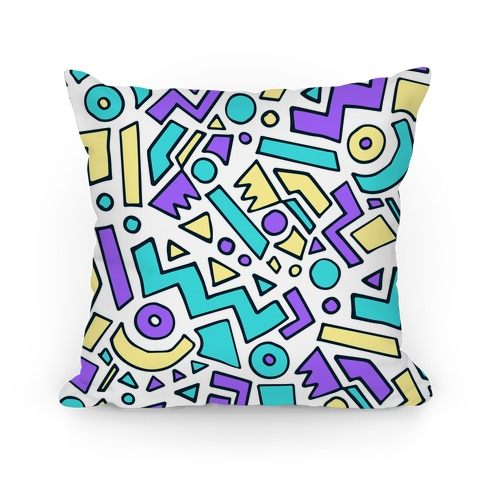 90's Surfer Pattern Pillow