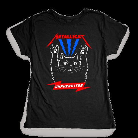 Metallicat Unfurrgiven Darkness Edition Womens T-Shirt