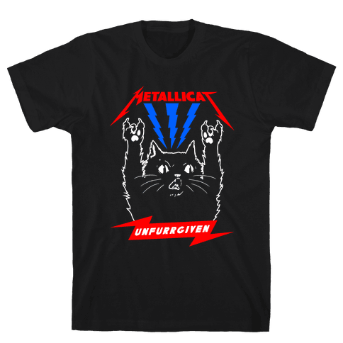 Metallicat Unfurrgiven Darkness Edition Mens T-Shirt