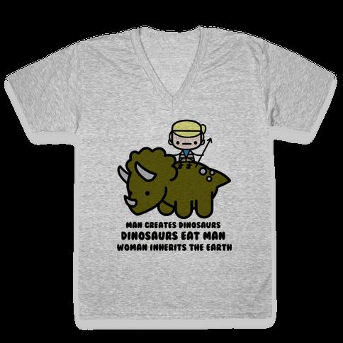 Dr. Ellie Sattler V-Neck Tee Shirt