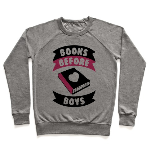 Books Before Boys Pullover