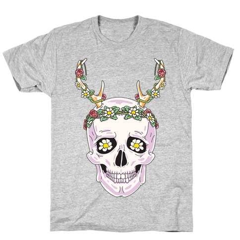 Flower Crown Skull T-Shirt