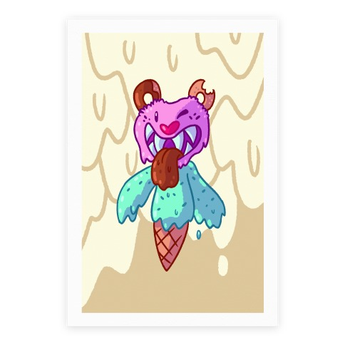 Ice Cream Bear Poster