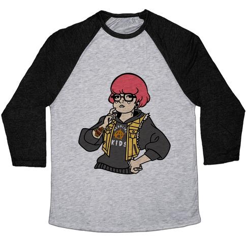 Punk Velma Parody Baseball Tee