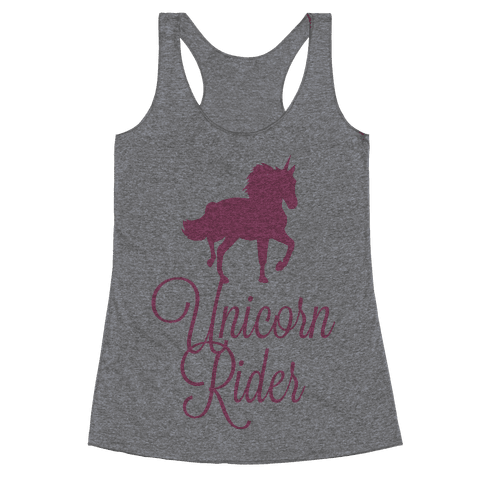 Unicorn Rider Racerback Tank Top