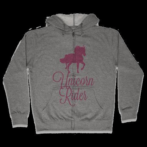 Unicorn Rider Zip Hoodie