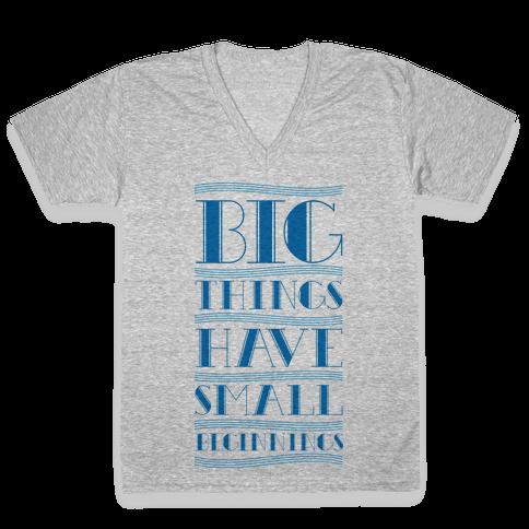Big Things V-Neck Tee Shirt