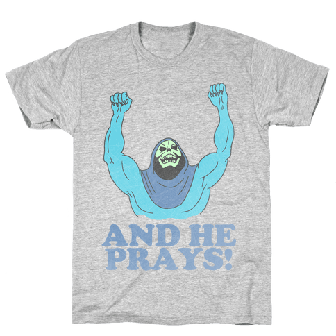 SKELETOR (AND HE PRAYS!) - VINTAGE Mens T-Shirt