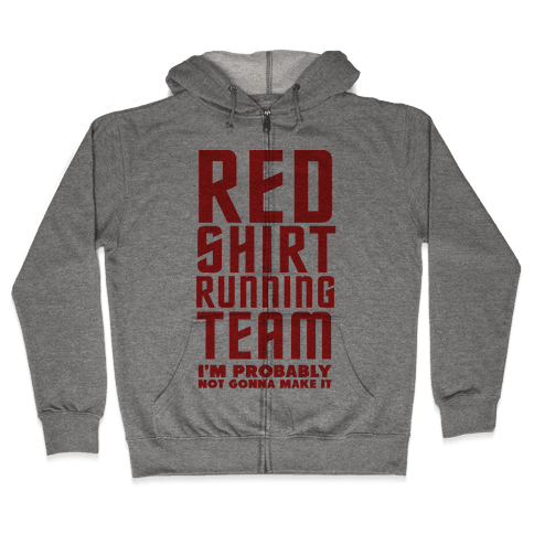 Red Shirt Running Team Zip Hoodie