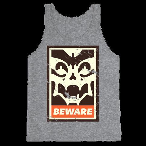 Beware (distressed) Tank Top