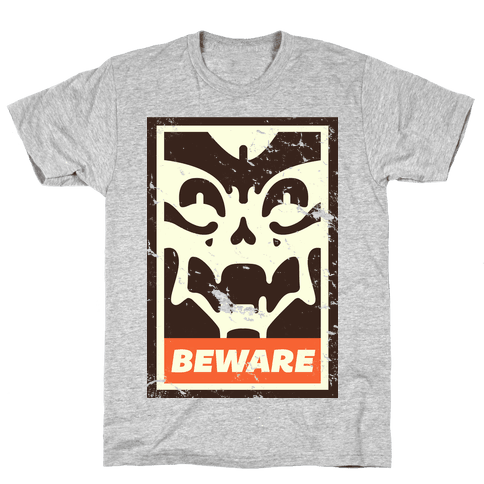Beware (distressed) Mens T-Shirt