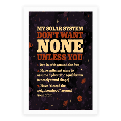 My Solar System Don't Want None Poster