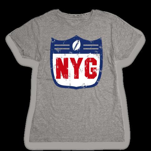 Football in New York Womens T-Shirt