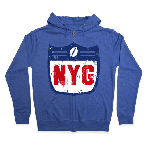 Football in New York Zip Hoodie