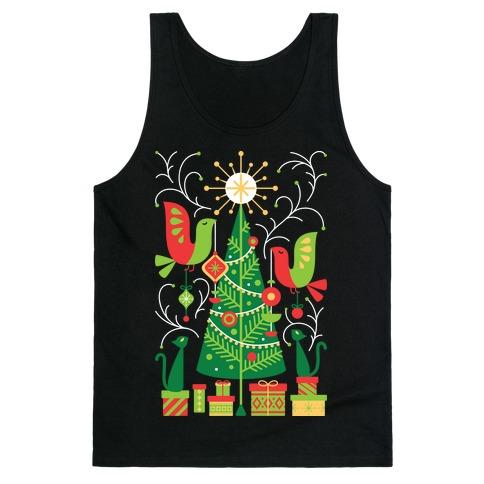 Vintage Christmas Tree Decorating Tank Top