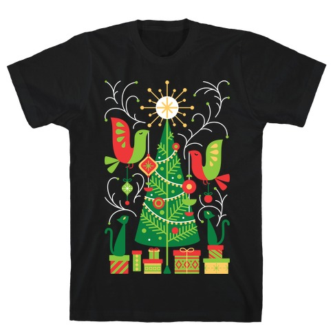 Vintage Christmas Tree Decorating T-Shirt