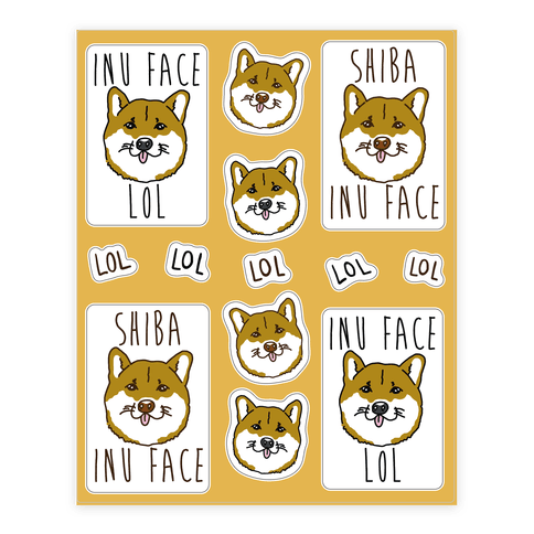 Sassy Shiba Inu  Sticker/Decal Sheet