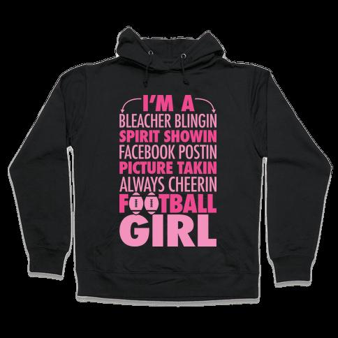 Football Girl Hooded Sweatshirt