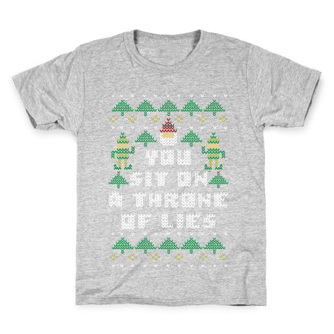 You Sit On a Throne of Lies Kids T-Shirt