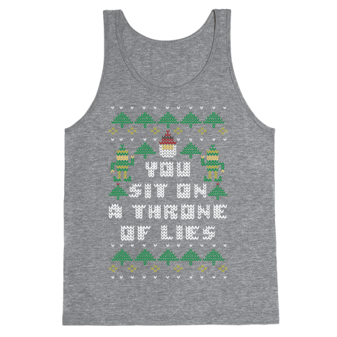 You Sit On a Throne of Lies Tank Top