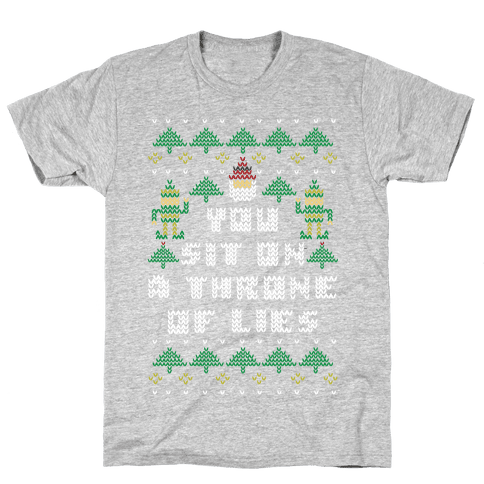 You Sit On a Throne of Lies Mens T-Shirt