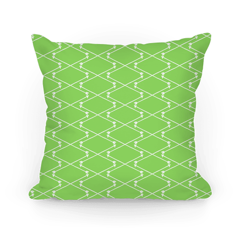 Lime Green Hipster Bow Arrow Crisscross Pattern Pillow
