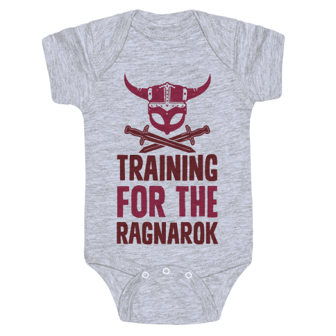Training For The Ragnarok Baby Onesy