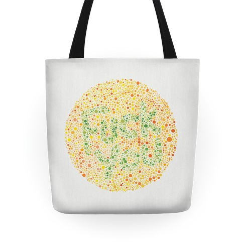 Color Blind Test ( F*** You) Tote Tote