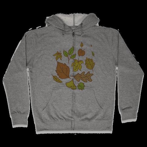 Autumn Leaves Zip Hoodie