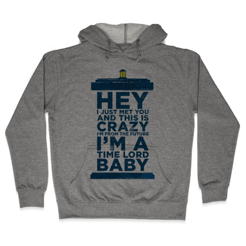 Dr Who (Call Me Maybe Tank) Hooded Sweatshirt