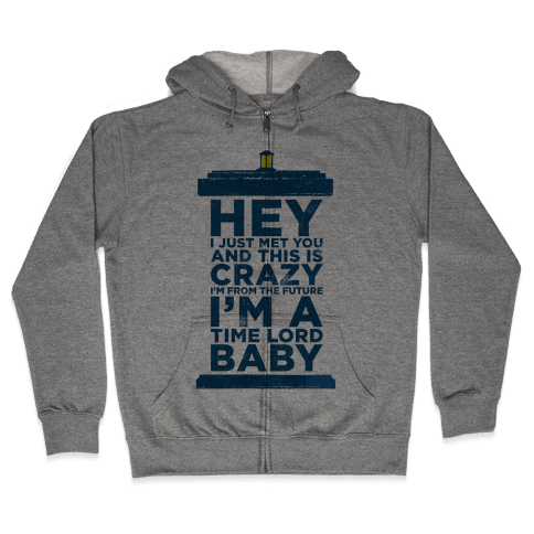 Dr Who (Call Me Maybe Tank) Zip Hoodie