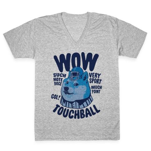Sports Doge V-Neck Tee Shirt