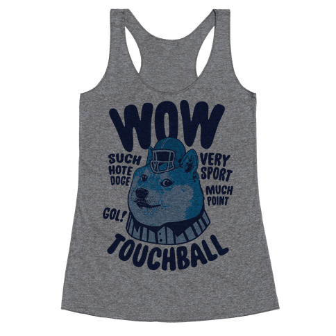 Sports Doge Racerback Tank Top