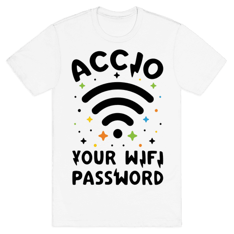 Accio Your Wifi Password Mens T-Shirt