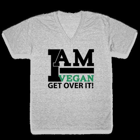 Vegan Life V-Neck Tee Shirt