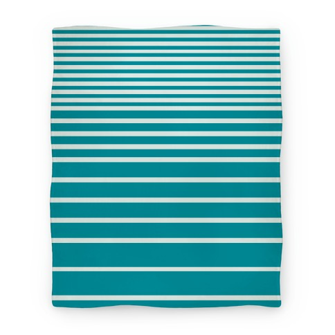 Teal Stripe Blanket Blanket
