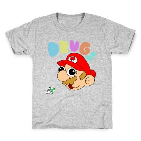 Drugs (Mario) Kids T-Shirt