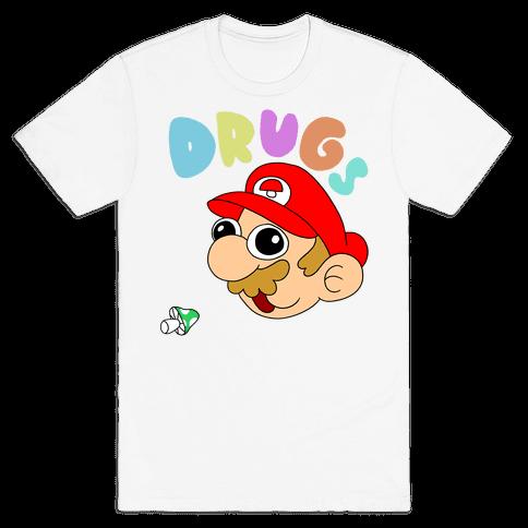 Drugs (Mario) Mens T-Shirt