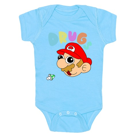 Drugs (Mario) Baby Onesy
