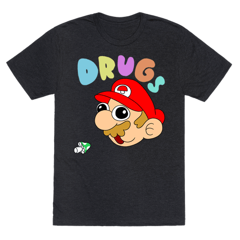Drugs (Mario) Mens T-Shirt