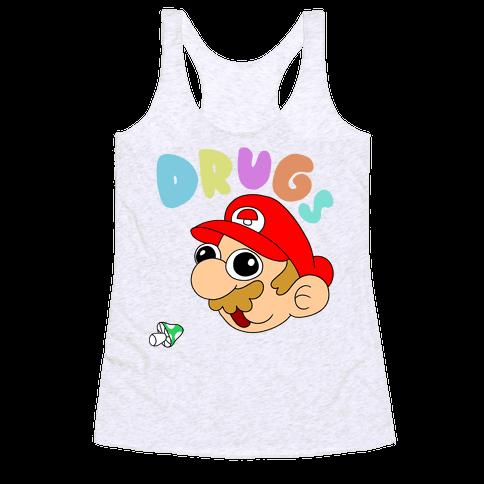 Drugs (Mario) Racerback Tank Top