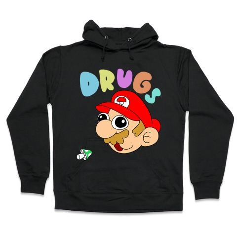 Drugs (Mario) Hooded Sweatshirt