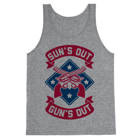 Sun's Out Gun's Out (Merica) Tank Top